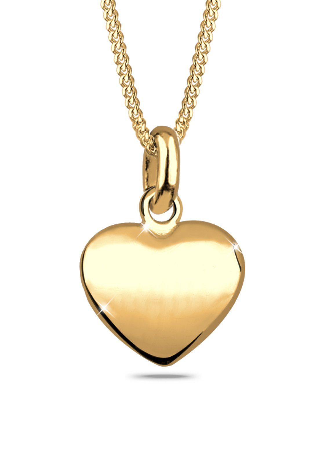 Goldhimmel Halskette »Herz Filigran Dünn 925 Sterling Silber«