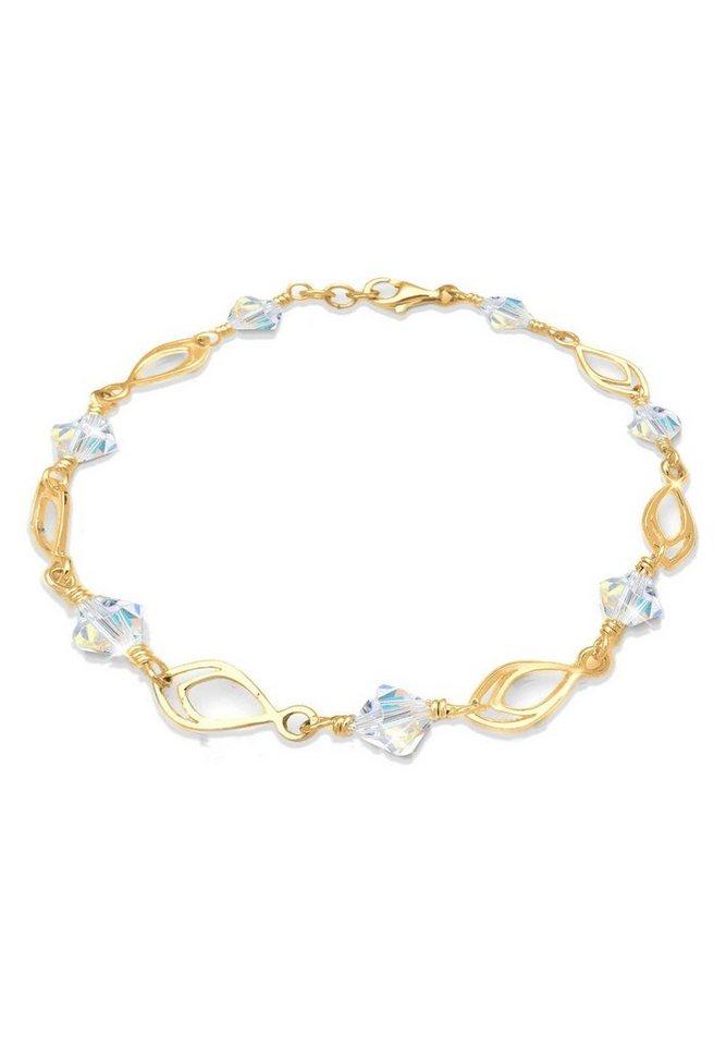 Goldhimmel Armband »Feder Swarovski Kristalle 925 Sterling Silber« in Gold