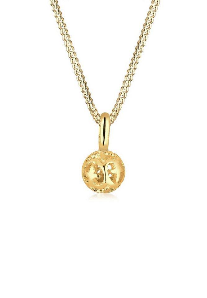 Elli Halskette »Ornament Kugel 585 Gelbgold« in Gold