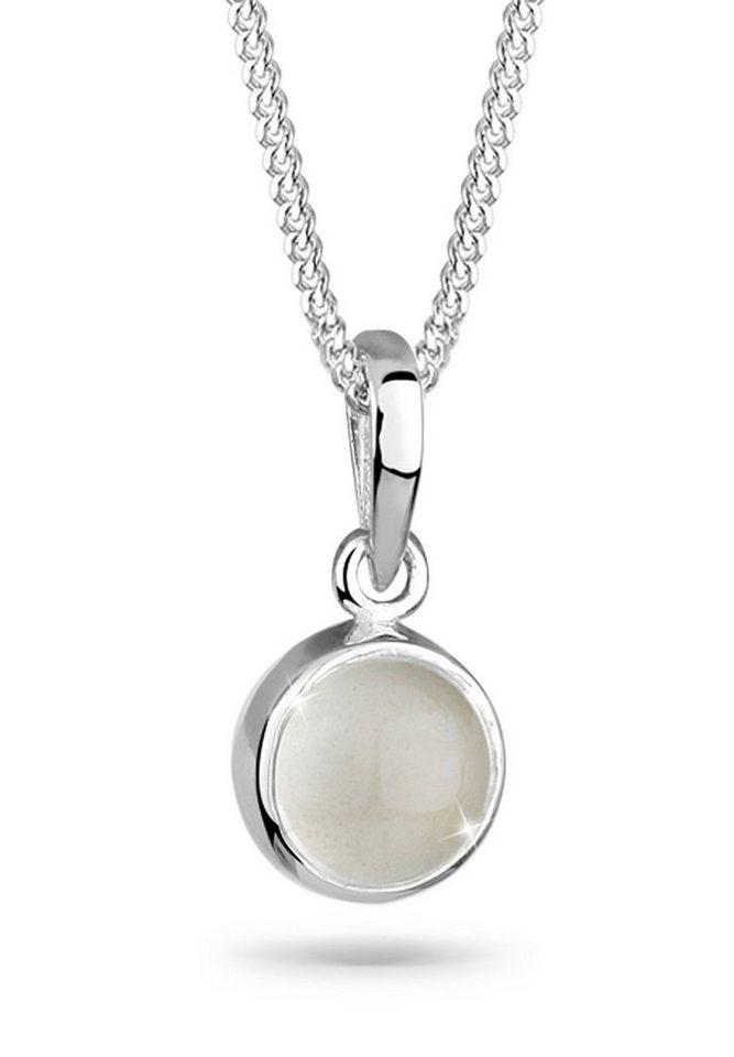 Elli Halskette »Mondstein 925 Sterling Silber« in Weiß