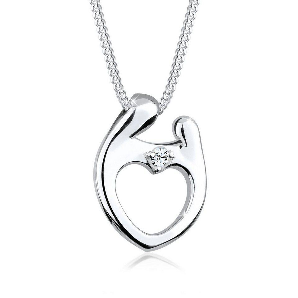 Elli Halskette »Muttertag Swarovski® Kristalle 925 Sterling Silber« in Silber