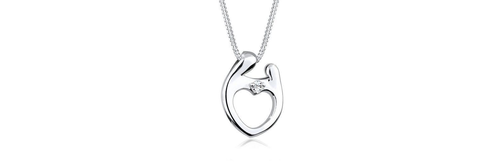 Elli Halskette »Muttertag Swarovski® Kristalle 925 Sterling Silber«