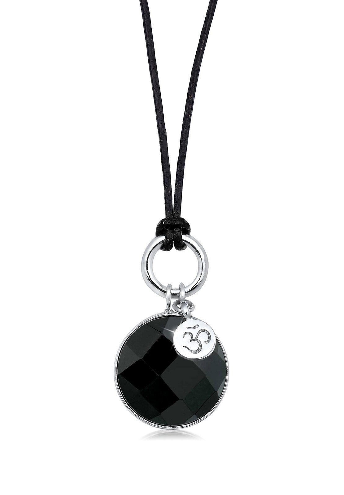 Elli Halskette »925 Sterling Silber Om Onyx schwarz«