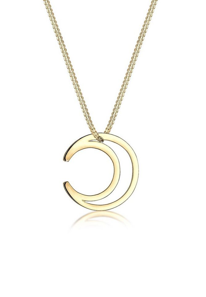 Elli Halskette »Halbmond Astro 925 Sterling Silber« in Gold