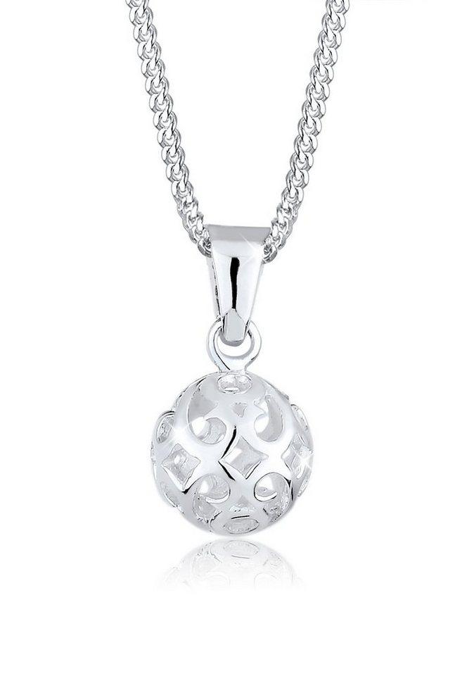 Elli Halskette »Kugel Ornament 925 Sterling Silber« in Silber