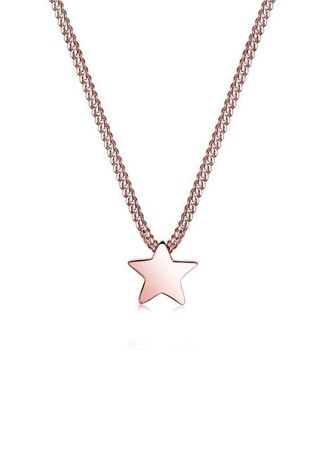 Elli Halskette »Stern Astro Star Basic 925 Sterling Silber« in Rosegold
