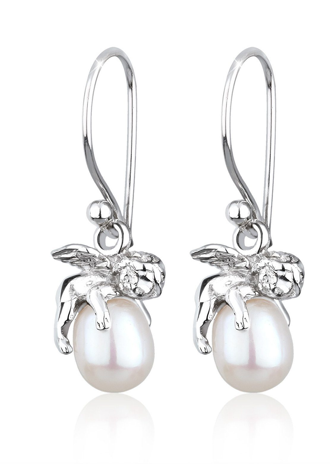 Perlu Ohrringe »Engel Schutzengel Süßwasserzuchtperle Silber«