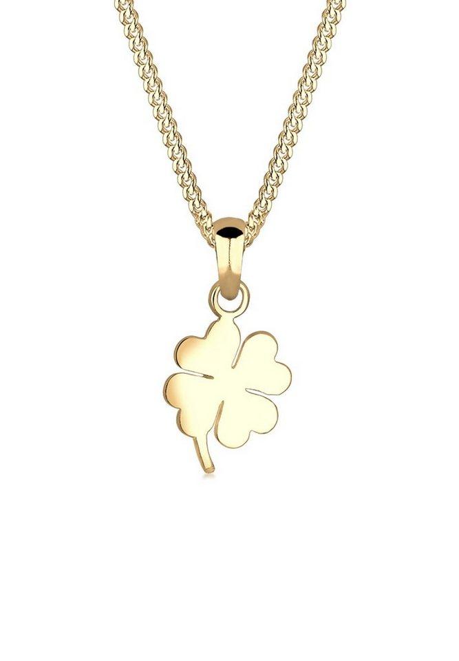 Elli Halskette »Kleeblatt 585 Gelbgold« in Gold
