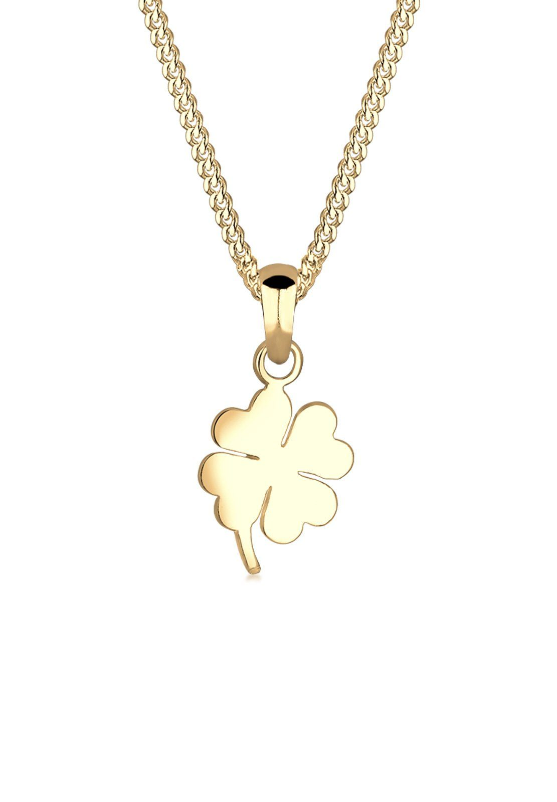 Elli Halskette »Kleeblatt 585 Gelbgold«