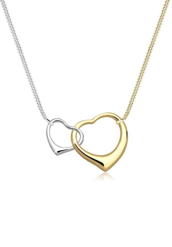Elli Halskette »Herzen Verschlungen 925 Sterling Silber« in Gold