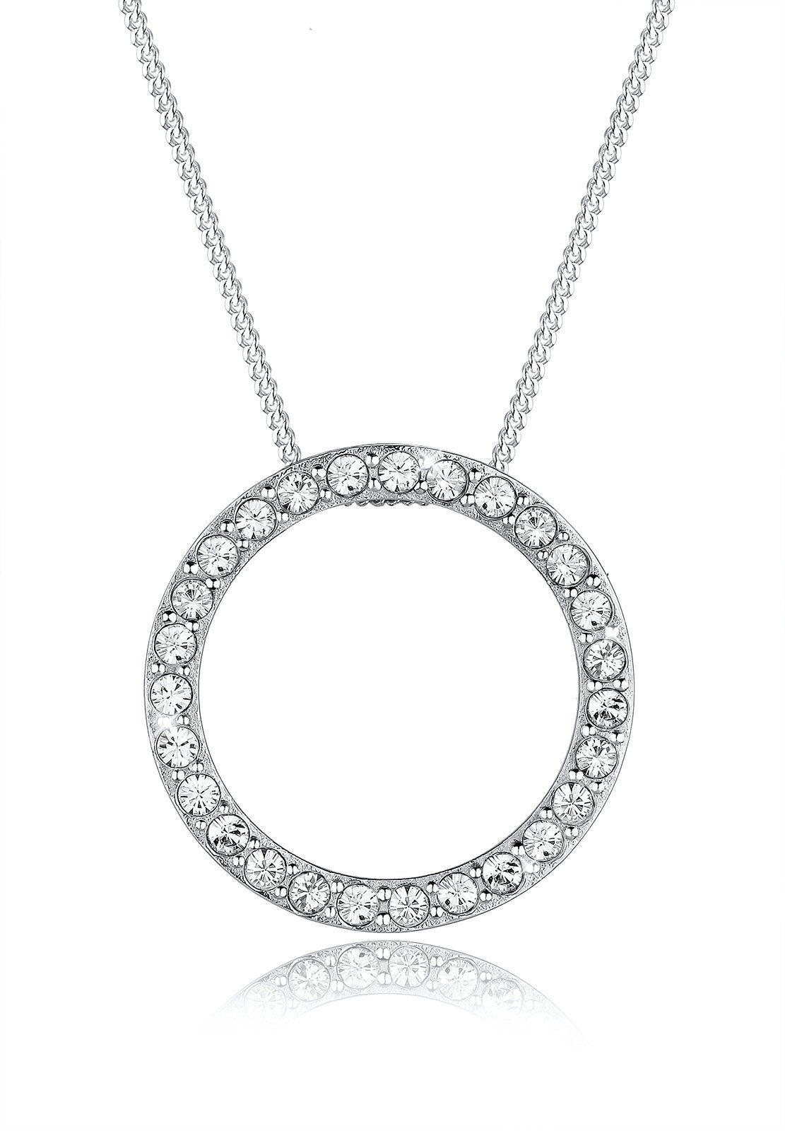 Elli Halskette »Karma Kreis Swarovski Kristall 925 Sterling Silber«
