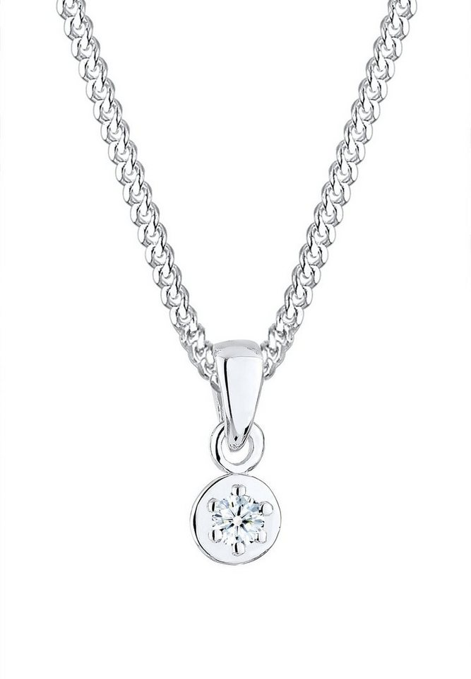 Diamore Halskette »Diamant (0,03ct) 925 Sterling Silber« in Silber