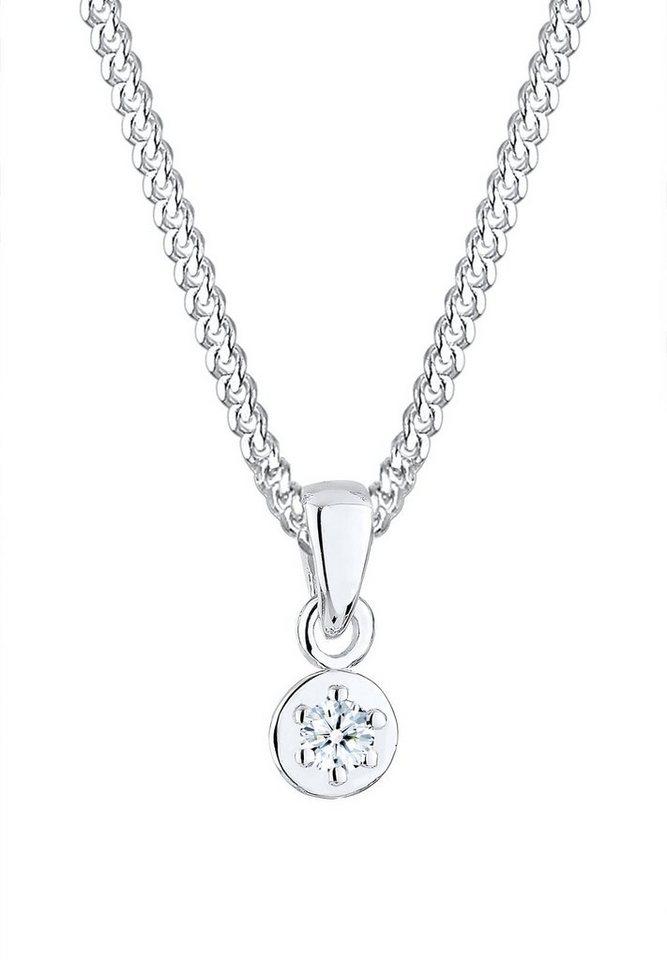 Diamore Halskette »Kreis Diamant Verlobung 925 Sterling Silber« in Silber