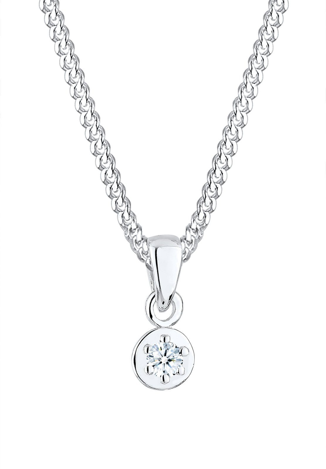 Diamore Halskette »Diamant (0,03ct) 925 Sterling Silber«