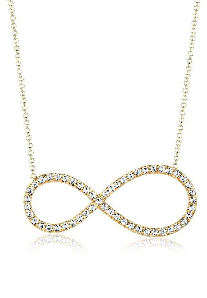 Goldhimmel Halskette »Infinity Swarovski® Kristalle 925 Sterling Silber« in Gold