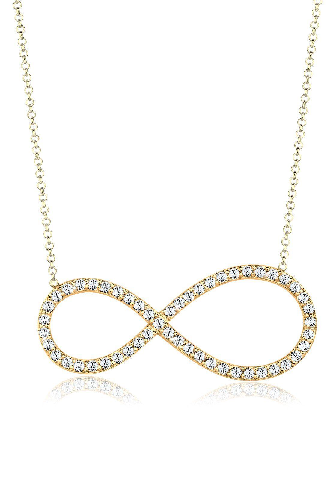 Goldhimmel Halskette »Infinity Swarovski® Kristalle 925 Sterling Silber«