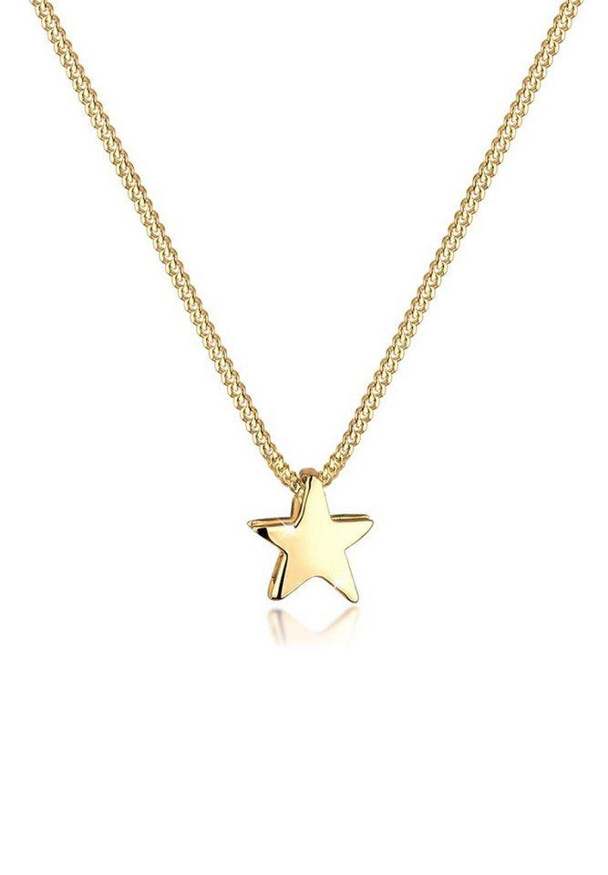 Goldhimmel Halskette »Stern Astro Himmel 925 Sterling Silber« in Gold