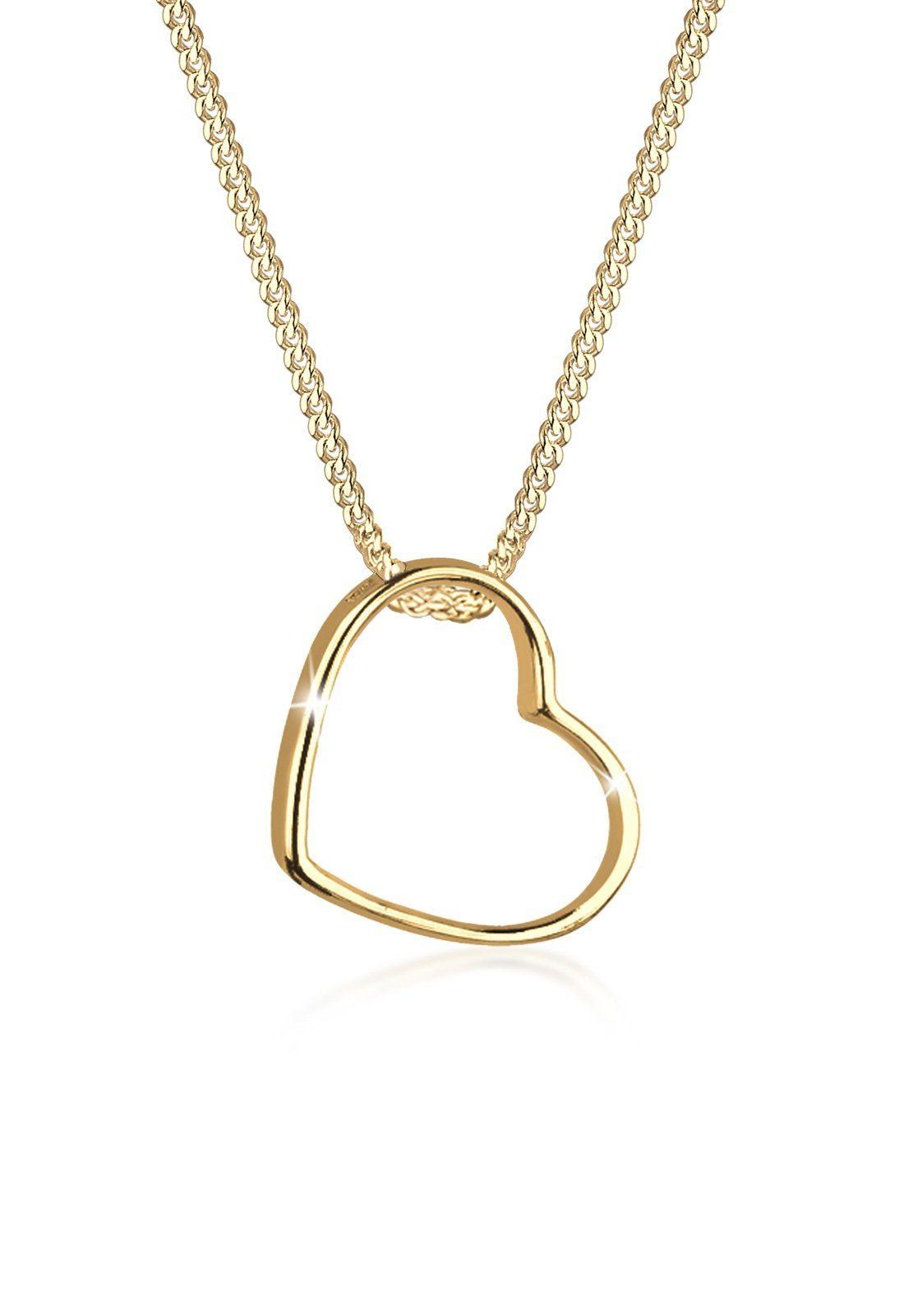 Goldhimmel Halskette »Herz Umiss 925 Sterling Silber«