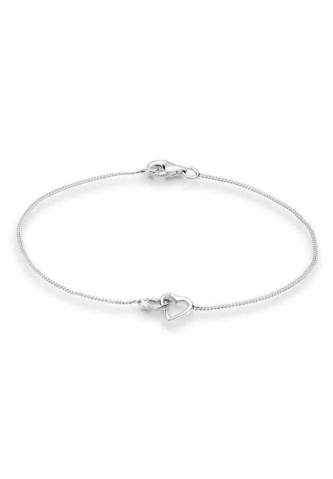 Elli Armband »Herz Liebe 925 Sterling Silber« in Silber