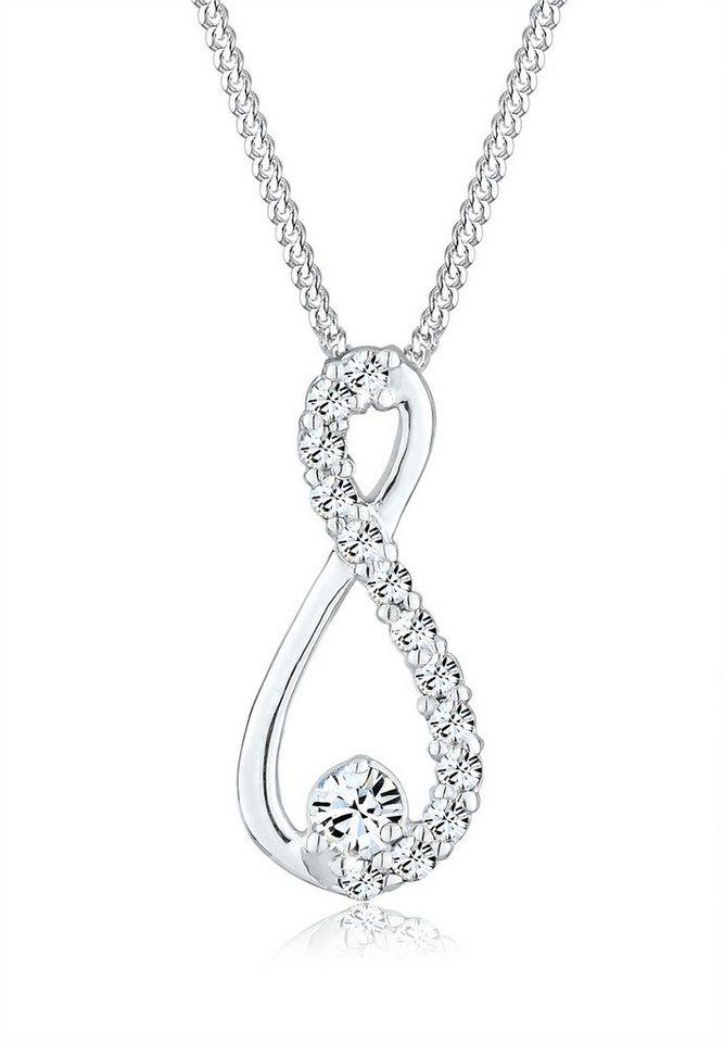 Elli Halskette »Infinity Swarovski® Kristall 925 Sterling Silber« in Silber