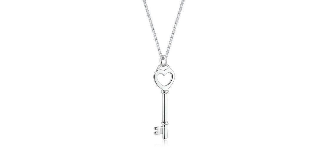Elli Halskette »Schlüssel Herz Liebesschlüssel 925 Sterling Silber«