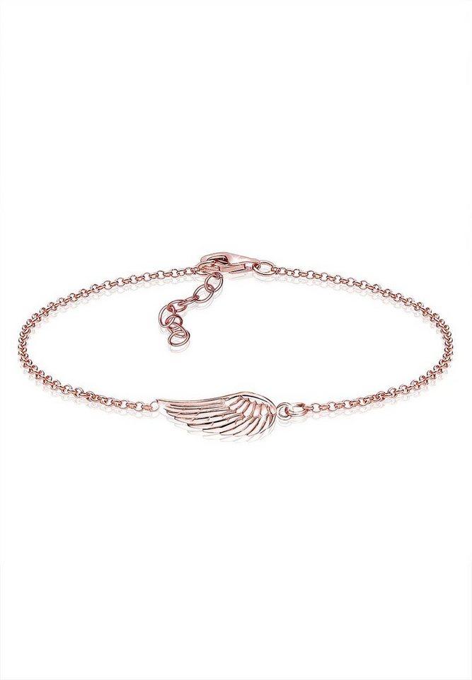 Elli Armband »Flügel 925 Sterling Silber ROSÉGOLD« in Rosegold