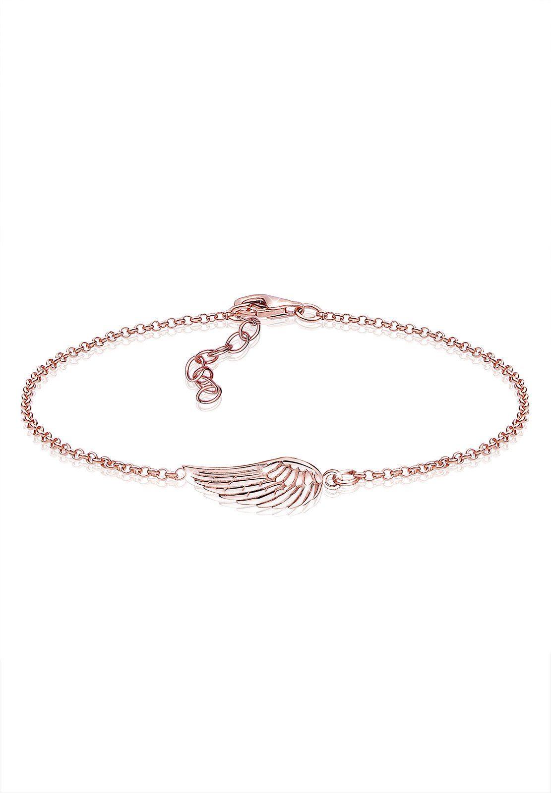 Elli Armband »Flügel 925 Sterling Silber ROSÉGOLD«