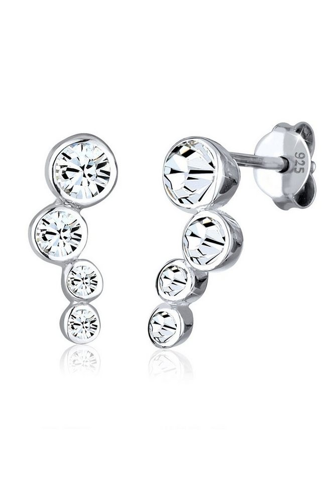 Elli Ohrringe »Rund Swarovski® Kristalle 925 Sterling Silber« in Silber