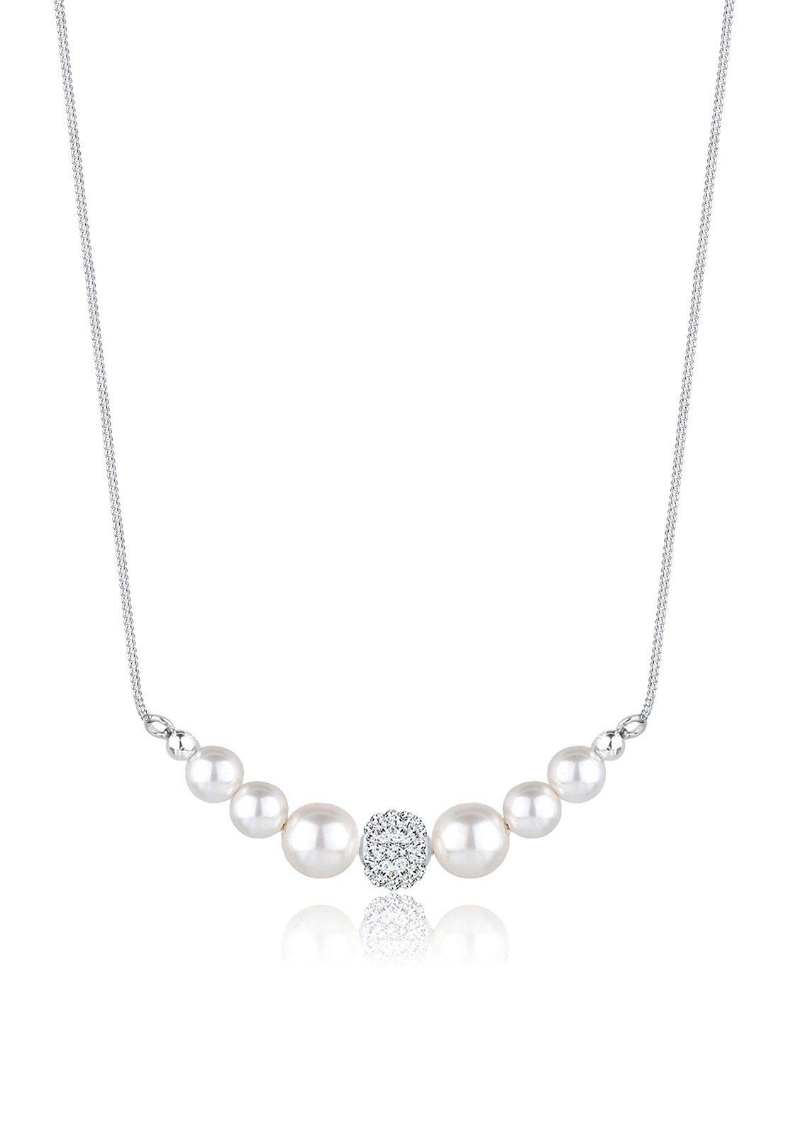 Perlu Halskette »Swarovski Kristalle 925 Sterling Silber«