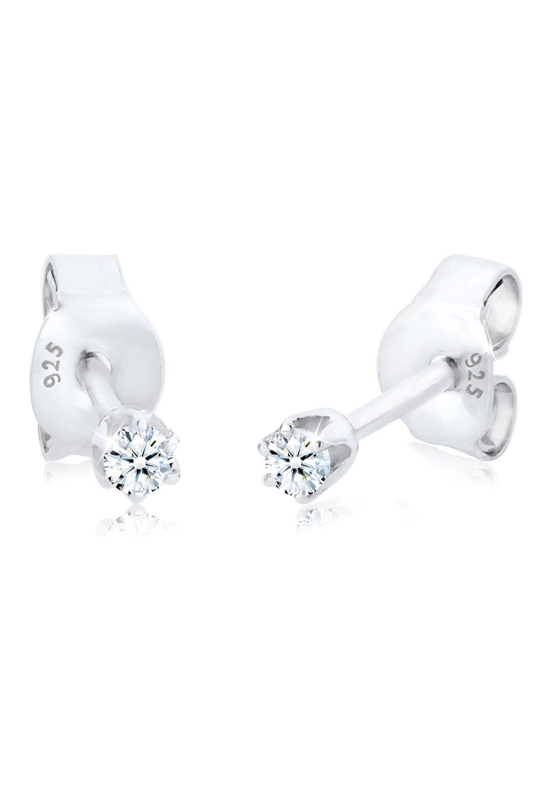 Diamore Ohrringe »Basic Ohrstecker Diamant 0.06 ct. 925 Silber«