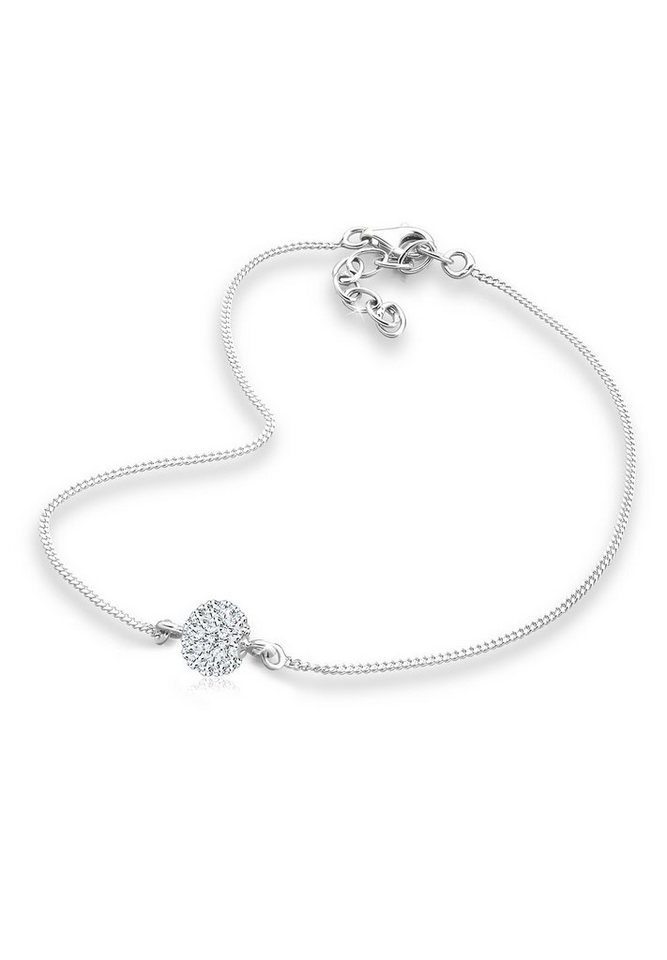 Elli Fußschmuck »Swarovski® Kristalle 925 Sterling Silber« in Weiß
