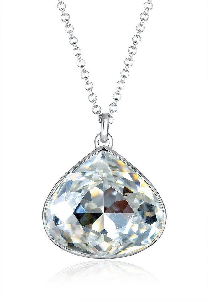 Elli Halskette »Stein Swarovski® Kristalle 925 Sterling Silber« in Weiß