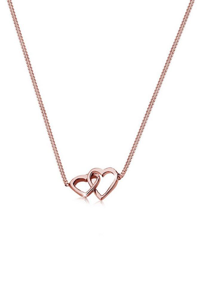 Elli Halskette »Herz 925 Sterling Silber« in Rosegold