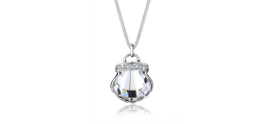 Elli Halskette »Muschel Swarovski® Kristalle 925 Sterling Silber«