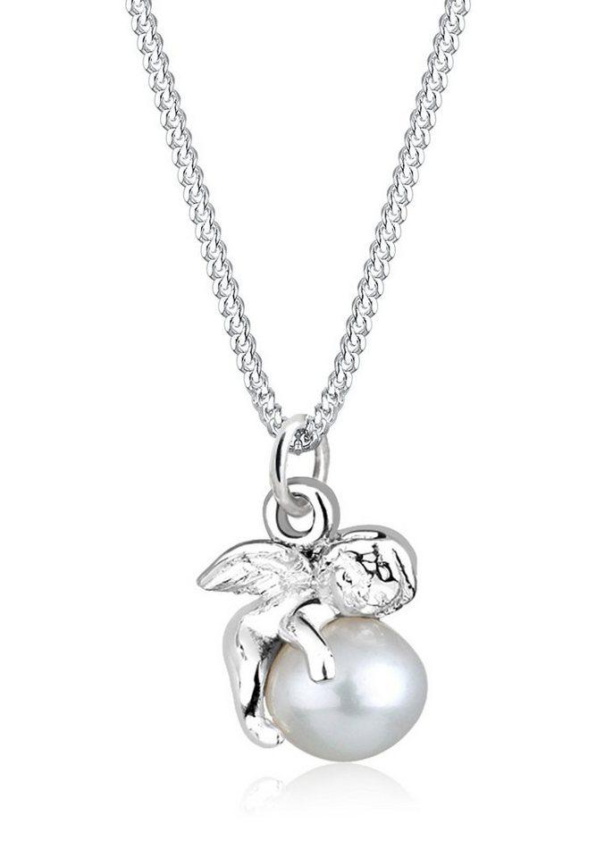 Perlu Halskette »Engel Süßwasserzuchtperle 925 Sterling Silber« in Silber