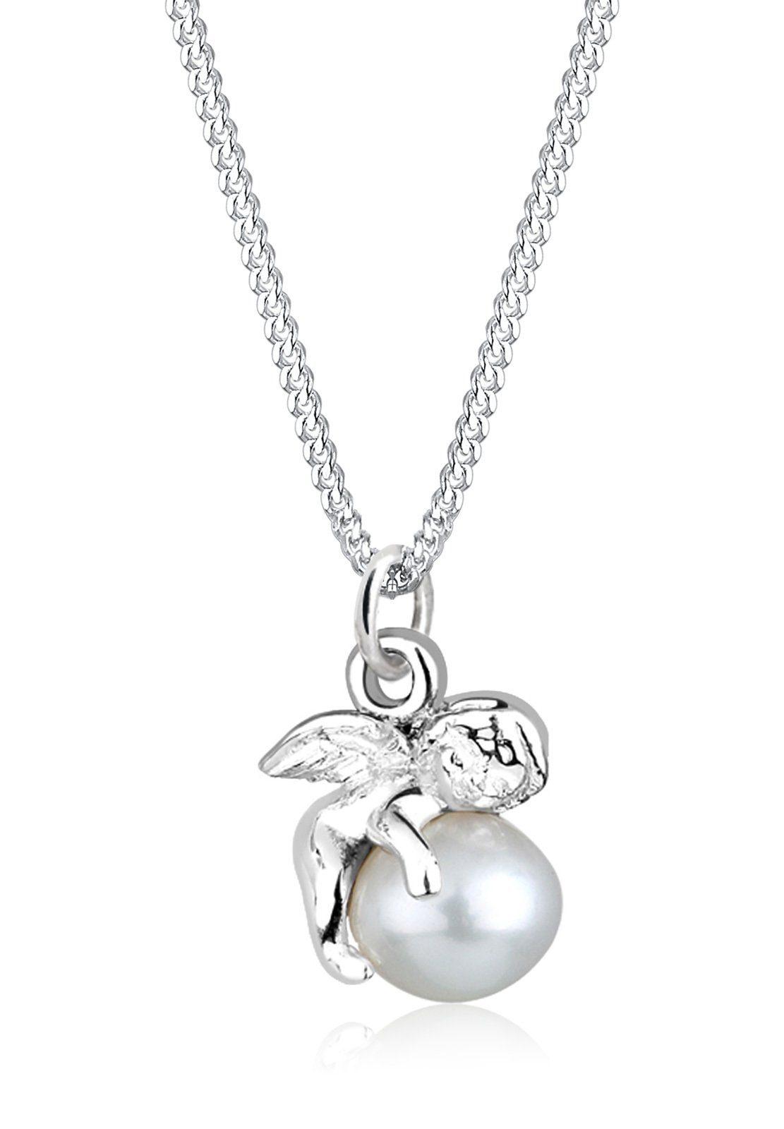 Perlu Halskette »Engel Süßwasserzuchtperle 925 Sterling Silber«