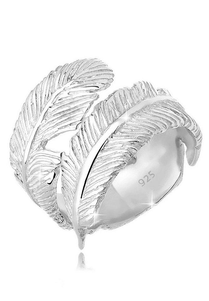 Elli Ring »Wickelring Feder 925 Sterling Silber« in Silber