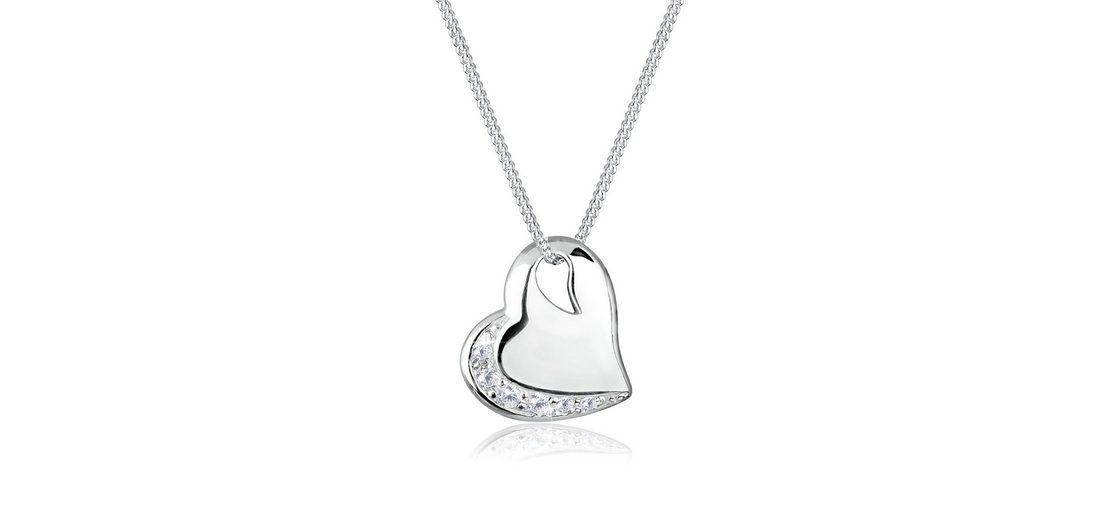 Elli Halskette »Herz Liebe Zirkonia 925 Sterling Silber«