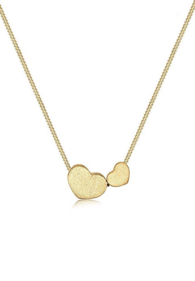 Goldhimmel Halskette »Herzen romantisch 925 Sterling Silber« in Gold