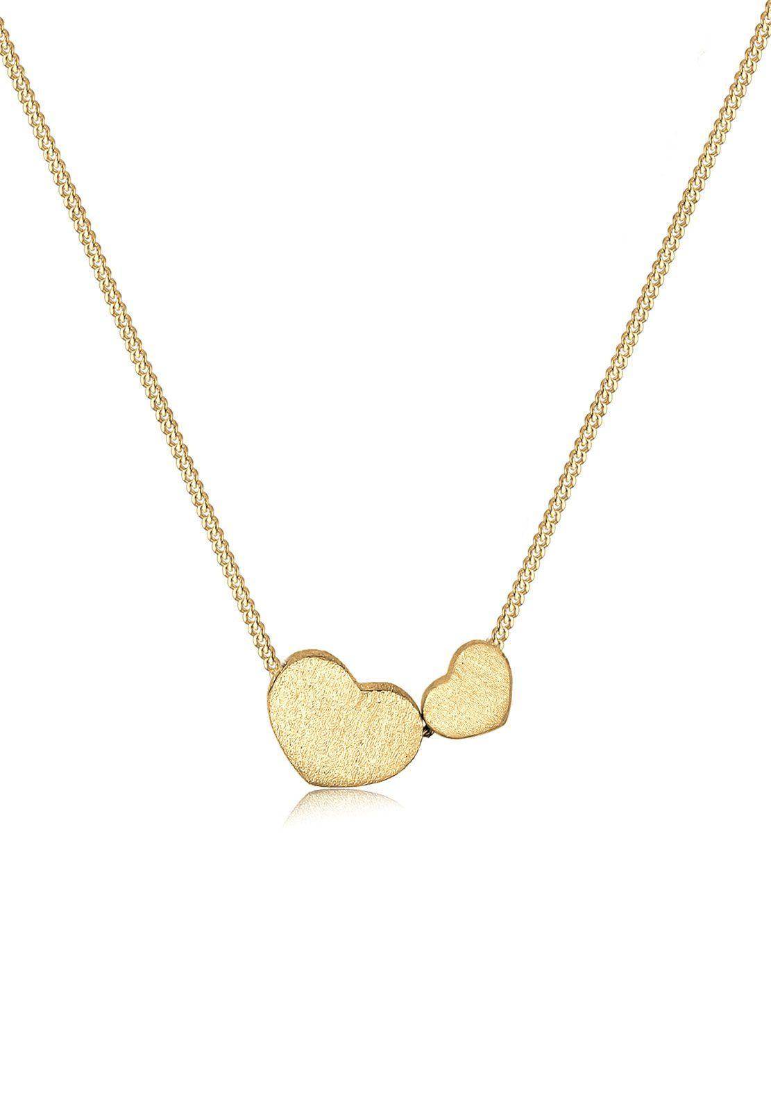 Goldhimmel Halskette »Herzen romantisch 925 Sterling Silber«