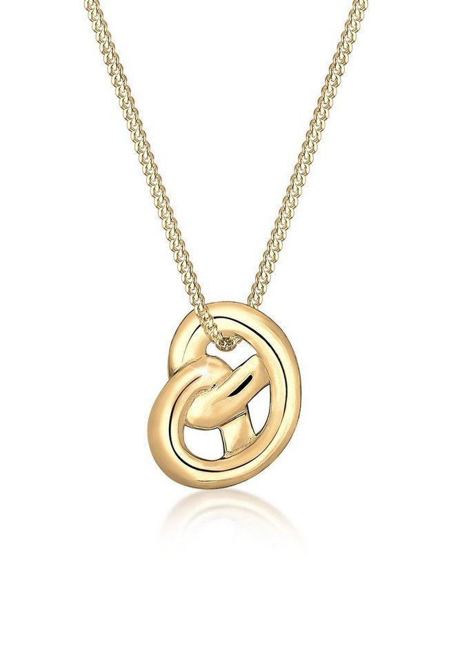 Elli Halskette »Wiesn Tracht Brezel 925 Sterling Silber« in Gold