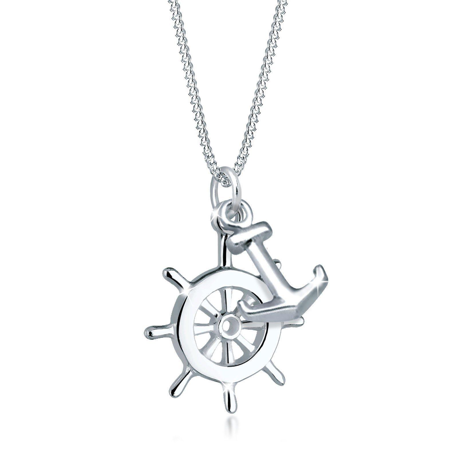 Elli Halskette »Steuerrad Anker Maritim 925 Sterling Silber«