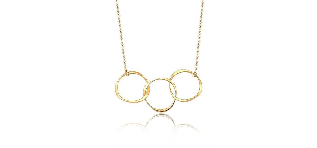 Elli Halskette »Kreis 925 Sterling Silber vergoldet«