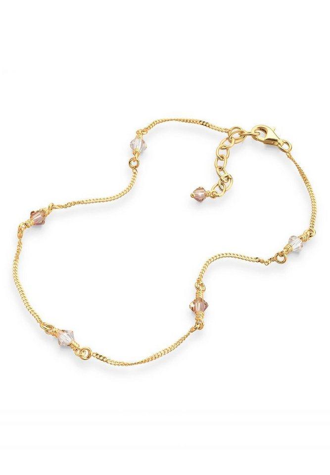 Goldhimmel Fußschmuck »925 Sterling Silber Swarovski Kristalle« in Gold