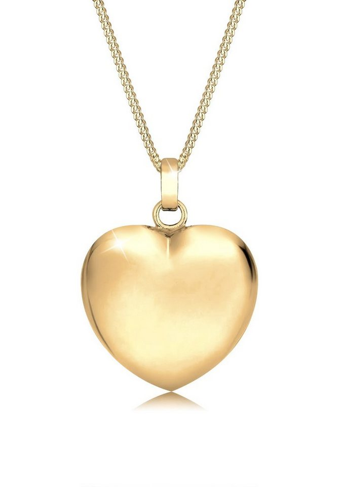 Goldhimmel Halskette »Herz Romantisch 925 Sterling Silber« in Gold