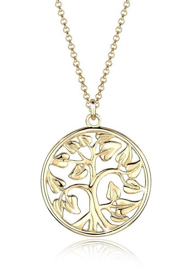 Goldhimmel Halskette »Münze Tree of Life 925 Sterling Silber vergoldet« in Gold
