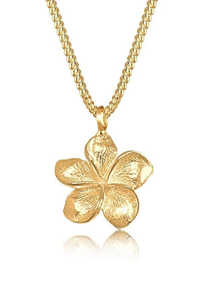 Goldhimmel Halskette »Frangipani Blüte 925 Sterling Silber« in Gold