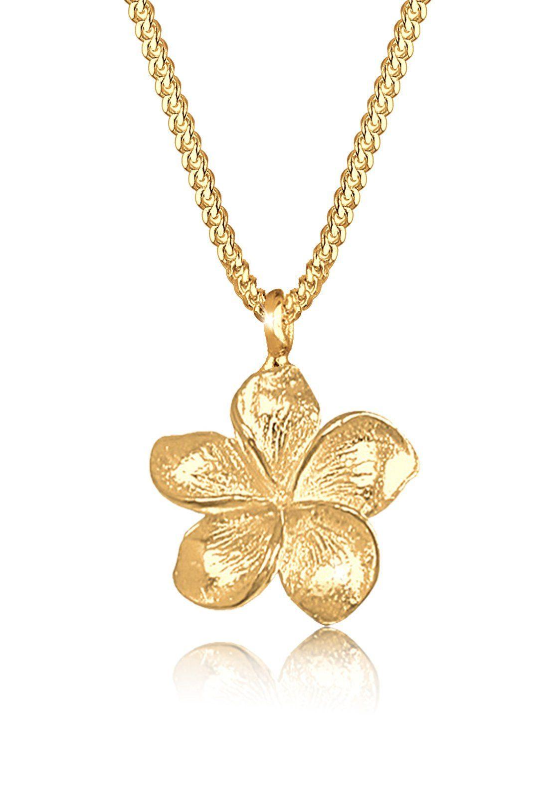 Goldhimmel Halskette »Frangipani Blüte 925 Sterling Silber«