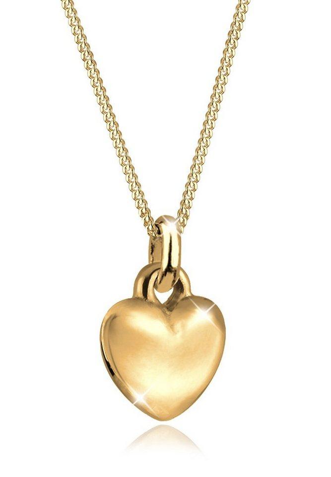 Goldhimmel Halskette »Herz Liebe Valentin 925 Sterling Silber« in Gold