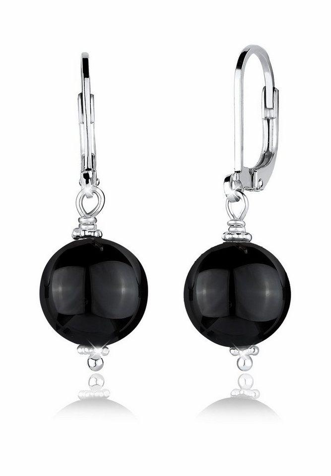 Elli Ohrringe »Onyx Edelstein Basic Klassisch 925 Silber« in Silber